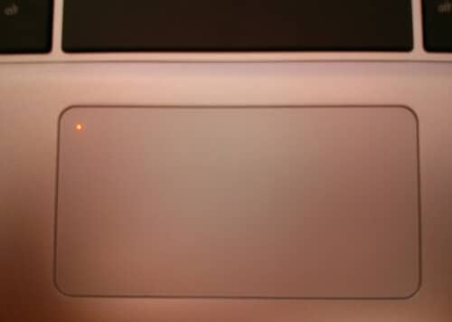 laptop touchpad on off light