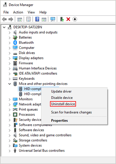 Uninstall Other Mouse Drivers